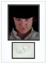 Malcolm McDowell Autograph Display - A Clockwork Orange